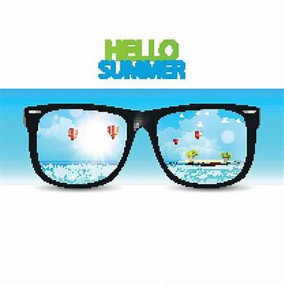 Sunglasses Reflected Tropical Clip Illustrations Culture Entertainment