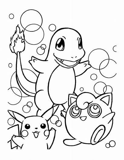 Pokemon Kleurplaten Coloring Ausmalbilder Kleurplaat Charmander Pikachu