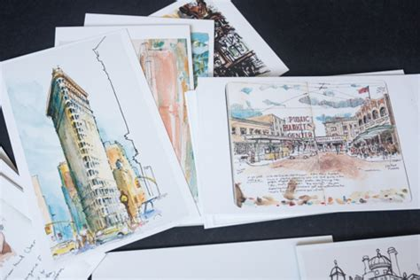 Review Urban Sketching 100 Postcards 100 Beautiful