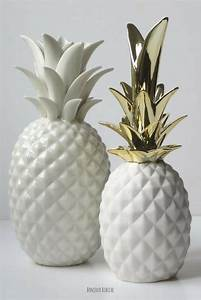 Objet Deco Ananas : ananas blanc et dor cadeaux de cr maill re ananas deco et d coration scandinave ~ Teatrodelosmanantiales.com Idées de Décoration