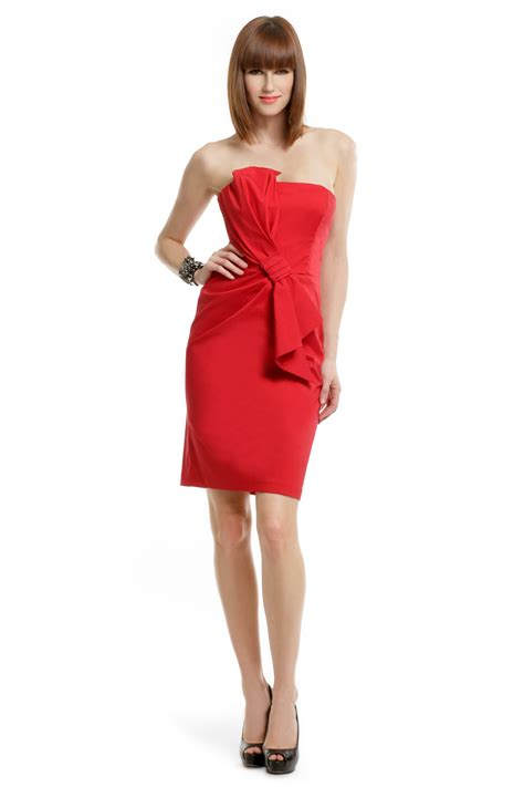 Lady In Red Dress By David Meister For $30  Rent The Runway