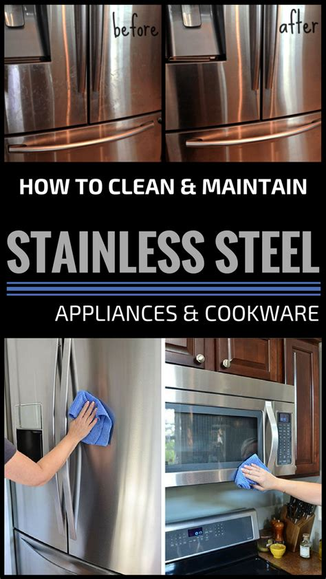 clean  maintain stainless steel appliances