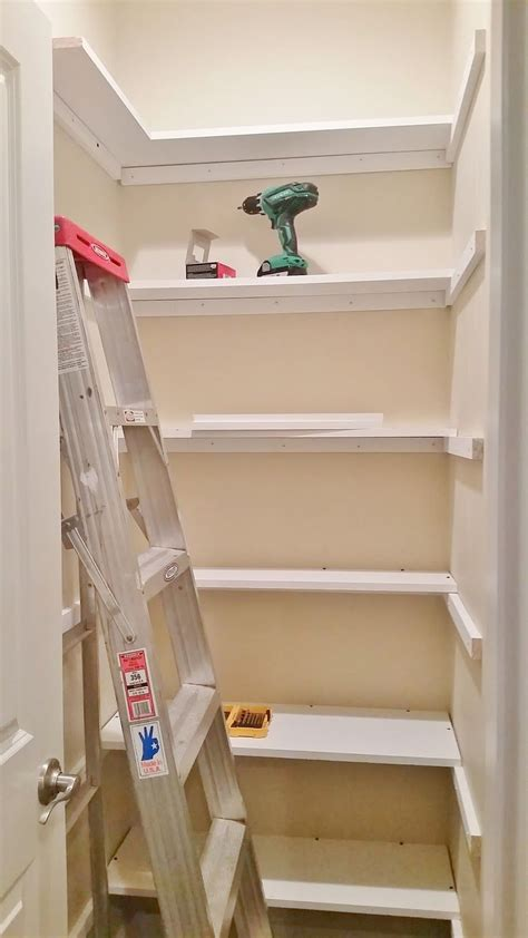 Shelving Pantry Ideas by Pantry Redesign Pantry Makeover Installing Wood Shelving