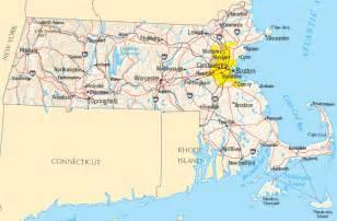 Massachusetts United States Map
