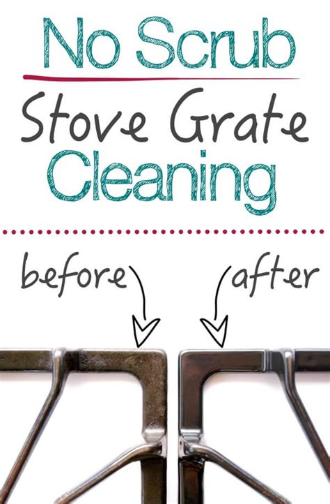 stove grates clean cleaning grate gas pans scrubbing drip oven without mykitchenescapades any scrub hacks cleaner grease ammonia cooking kitchen