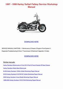 1997 1998 Harley Softail Fatboy Service Works By
