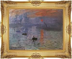 Claude Monet Impression, Sunrise 12x16 Framed Art - Canvas ...