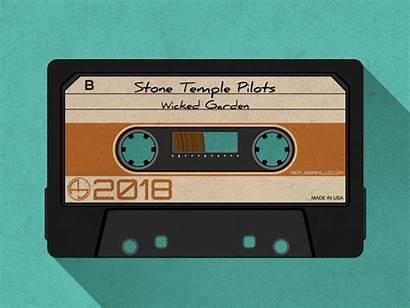 Cassette Tape Dribbble Tapes Aesthetic Retro Vector