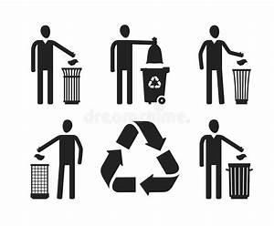 Avfallfack Eller Soptunna Med Det M U00e4nskliga Diagramet