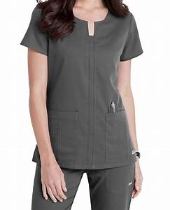 Grey's Anatomy Notched Neck 3 Pocket Scrub Tops | Scrubs ...