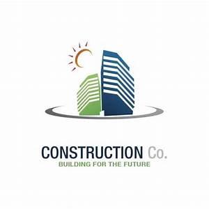 Construction Company Vector Logo Design - TemplatesBox.com