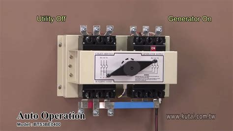 3p 400 automatic transfer switch operational tutorial youtube