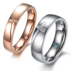 mens silver wedding bands cross engraved rings matching couples promise rings engraving yoyoon 12212