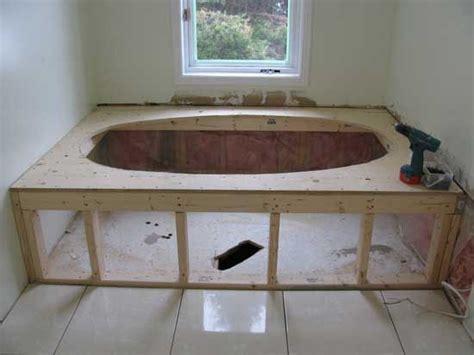 ceramic tile jacuzzi tub  deck   build jacuzzi