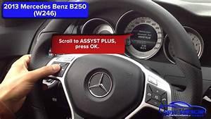 2013 Mercedes B250 Oil Light Reset    Service Light Reset