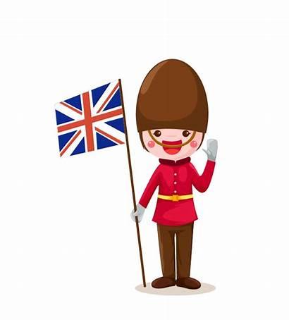 Flag England Clipart Cartoon English Funny Corner