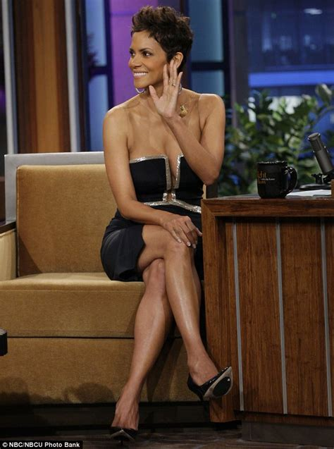 jay leno    stare  halle berrys cleavage