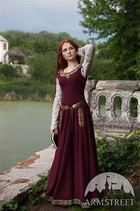 Abito medievale da donna Maniche verdi Abito medievale