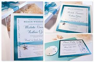 Memoires d39amour weddings beach wedding invitations 5 for Beach wedding invitations with pictures