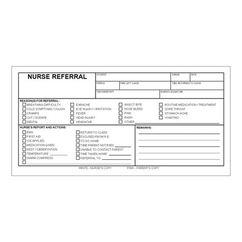 nurse referral forms box