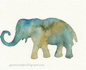 Make Stenciled Watercolor Art » Dollar Store Crafts