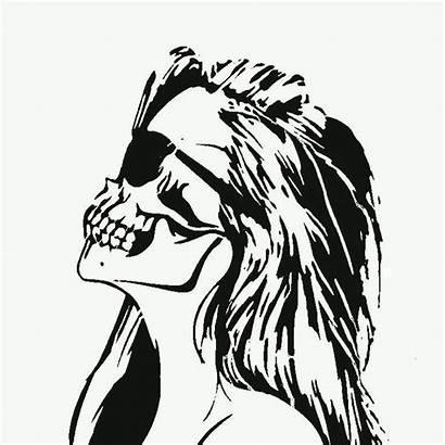 Stencil Skull Zombie Tattoo Graffiti Female Templates