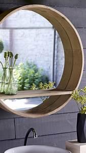 Spiegel Für Gäste Wc : badezimmerspiegel in 2019 mirror bathroom wall decor round mirrors ~ Watch28wear.com Haus und Dekorationen