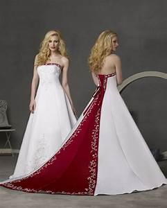 A wedding addict timeless red and white wedding dresses for Wedding dresses with red in them