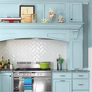35 beautiful kitchen backsplash ideas hative for Subway tile backsplash herringbone pattern