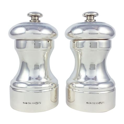 Peugeot Salt And Pepper Mills by Hallmarked Sterling Silver Salt Pepper Mill With Peugeot