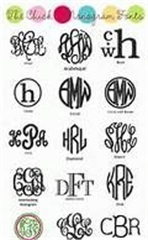 circle monogram fonts  monogrammed pinteres