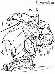 Batman Coloring Pages Print And Colorcom