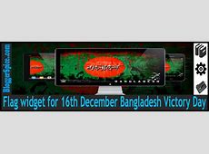 Flag widget for 16th December Bangladesh Victory Day