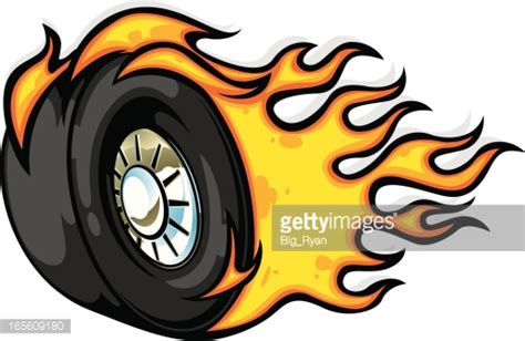 Tire Clipart Burning Rubber