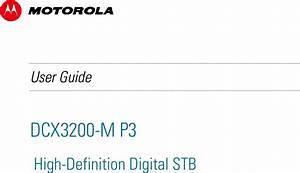 Arris Dcx3200 M P3 High Definition Digital Stb User Manual
