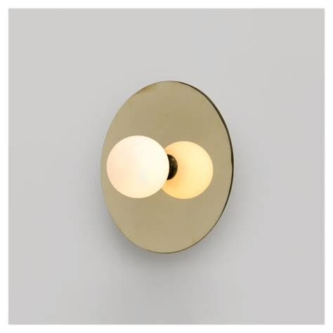 disc and sphere wall light by atelier aretti
