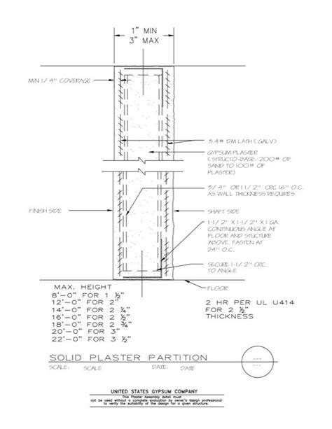 USG Design Studio | 09 21 13.111 Plaster Wall Solid