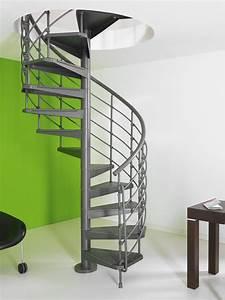 Escalier Colimaçon Pas Cher : escalier h lico dal en acier gris fonte magia 50 xtra ~ Premium-room.com Idées de Décoration