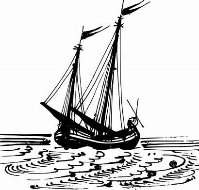 Boat Dutch Sailing Clip Clipart Ship Svg