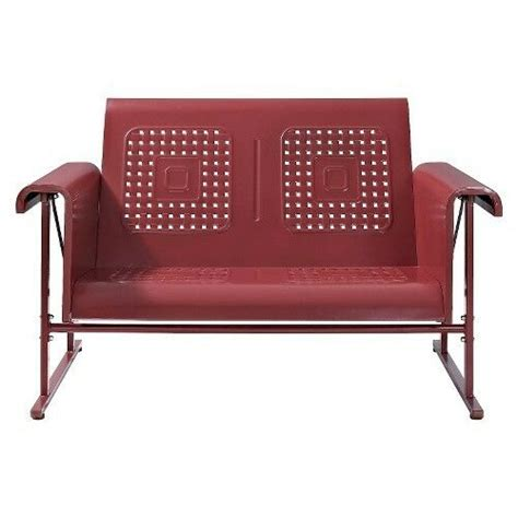 Metal Outdoor Loveseat by Veranda Metal Patio Loveseat Glider Ebay