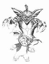 Gremlins Coloring Pages Gizmo Colouring Horror Gremlin Sketch Adult Sketches Quote Sketchite Drawings Scary Template sketch template