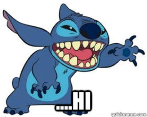 Stitch Hi Meme - hi awkward stitch quickmeme