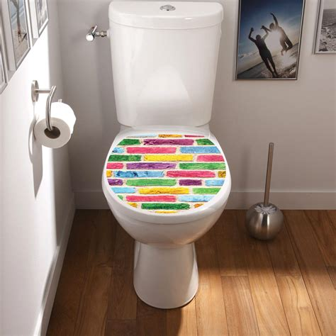 sticker abattant wc mur multi couleurs stickers toilettes abattants wc ambiance sticker