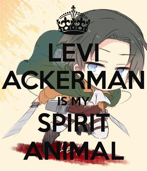 levi ackerman   spirit animal poster