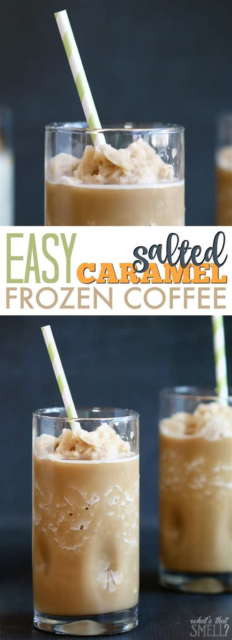 S'mores was the anthem of childhood and summers, and coffee is the anthem of adulthood everyday. Easy Salted Caramel Iced or Frozen Coffee - 730 Sage Street