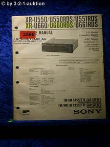 Sony Service Manual Xr U550rds  U660rds  U550  U660 Car