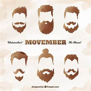 Shiny mustache collection for movember Vector | Free Download
