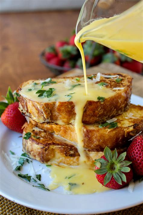cuisine hollandaise savory parmesan toast with hollandaise sauce the