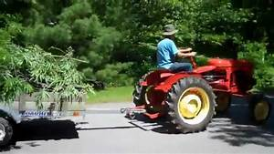 Cutting And Moving Big Tree With 1952 Massey Harris Pony