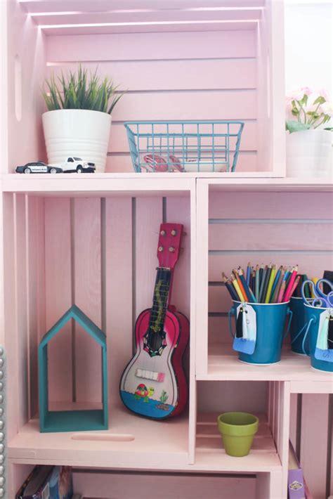 diy crate bookshelf love create celebrate